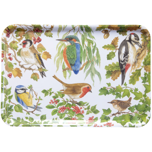 Melamine Large Tray, Birds of Britain, M7