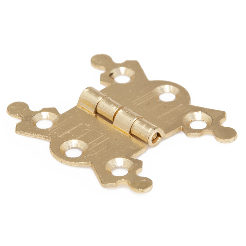 Electro Brass Butterfly Hinges and Pins, 1 5/8 inch, 1 Pair (8036)