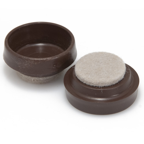 Small Brown Castor Cups With Pads - Ave Qty 2 (9385)