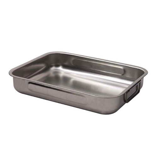 Dexam Deep Roasting Tin with Side Handles 25 X 18 Stainless Steel
