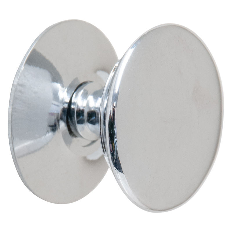 "Chrome Victorian 1"" Knob and Threaded Screw (9722)"