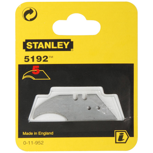 Stanley 5192 Spare Knife Blades, Pack of 5 (0-11-952)