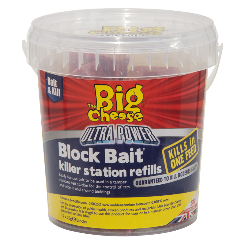 STV Big Cheese Ultra Power Block Bait Refills - 15 x 20g Blocks