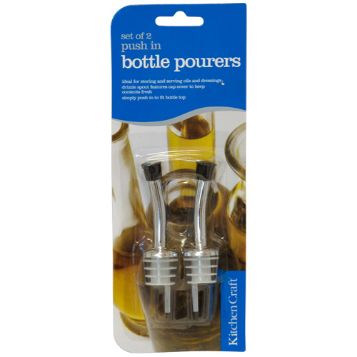 Kitchen Craft Set Of 2 Push In Bottle Pourers