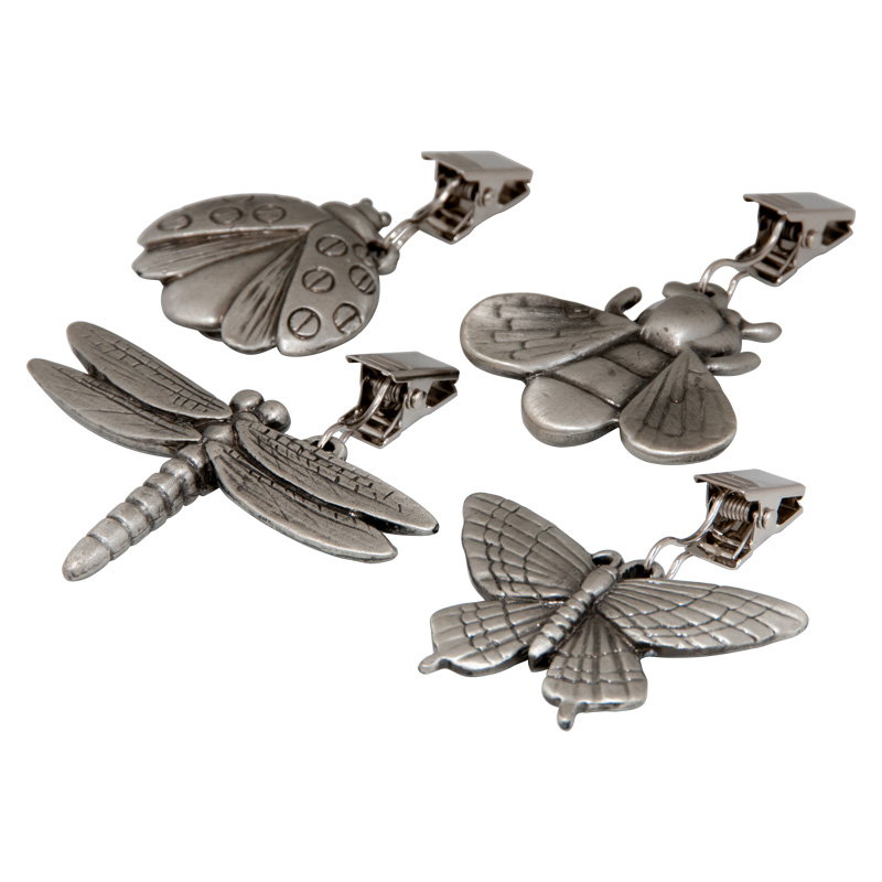 Pewter Tablecloth Weights - Set of 4 Garden Dwellers