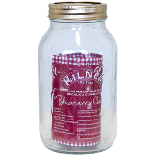 Kilner Glass Preserving Jar With Screw Top Lid - 1.0L