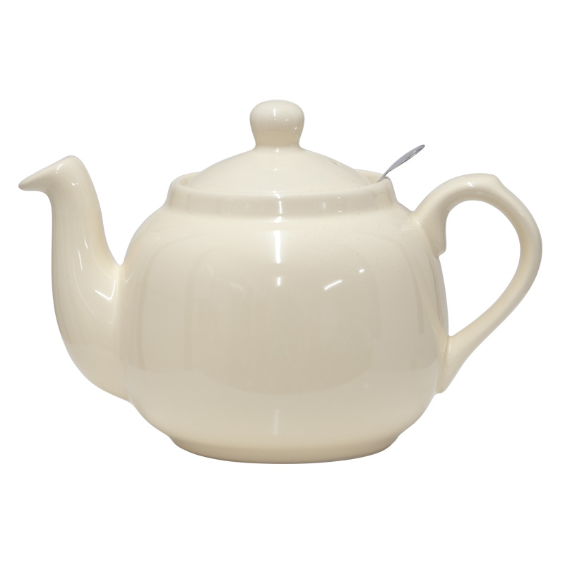 London Pottery 4 Cup Farmhouse Teapot with Filter - Ivory