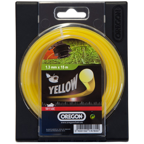 Oregon Strimmer Cutting Line 1.3mm x 15M Yellow Nylon 90150E