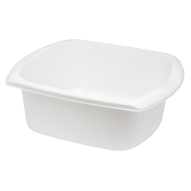 Addis Kitchenware Rectangular Washing-Up Bowl, 9.5L, White