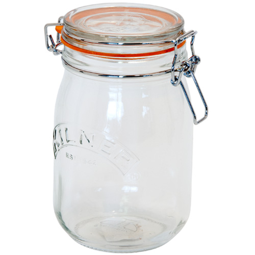 Kilner Glass Preserving Jar With Clip-Top Lid - 1 Litre