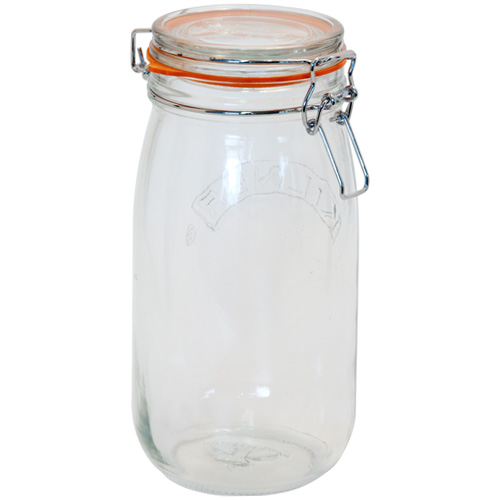 Kilner Glass Preserving Jar With Clip-Top Lid - 1.5L
