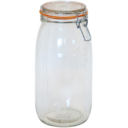 Kilner Glass Preserving Jar With Clip-Top Lid - 3 Litre