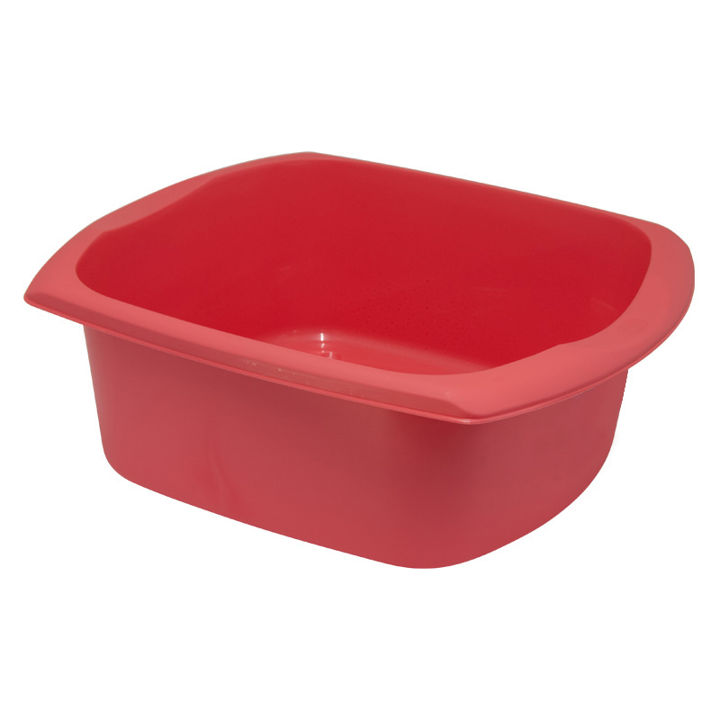 Addis Kitchenware Rectangular Washing-Up Bowl, 9.5L, Pomegranate