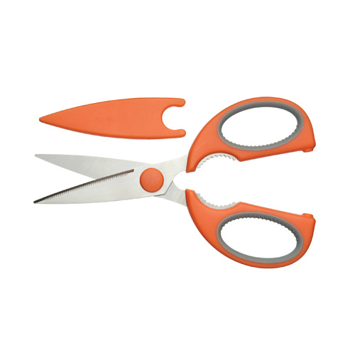 Kitchen Craft Kitchen Scissors with Safety Sheath -Silicone Grip