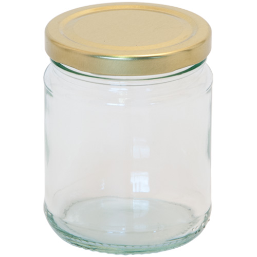 Jam Jar With Screw Top Lid - Glass Jam Jar 300ml