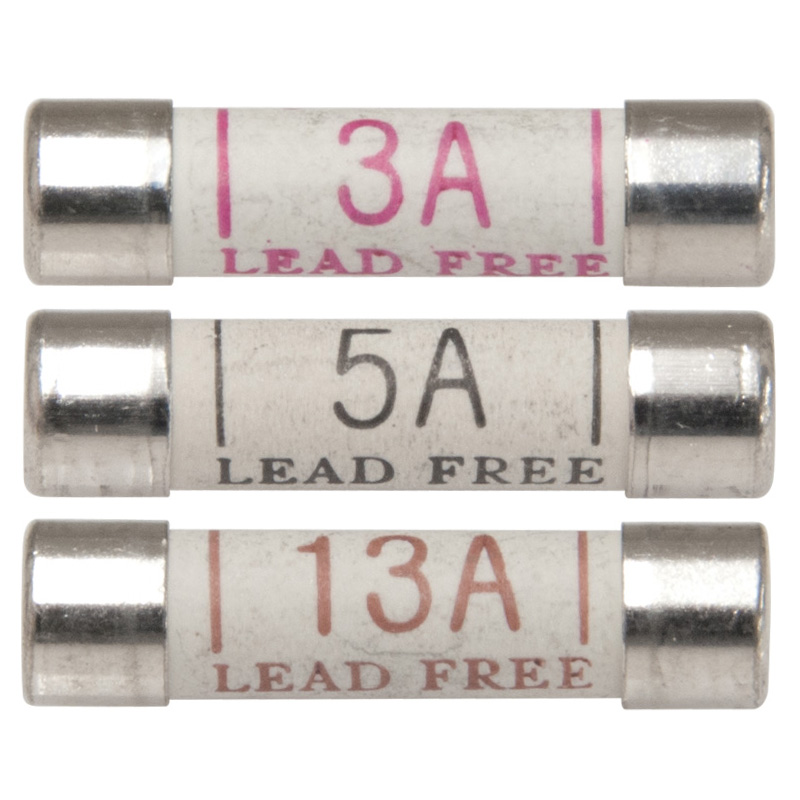 Worldwide Products Assorted 3, 5 and 13 amp Plug Fuses (Pack of 8)