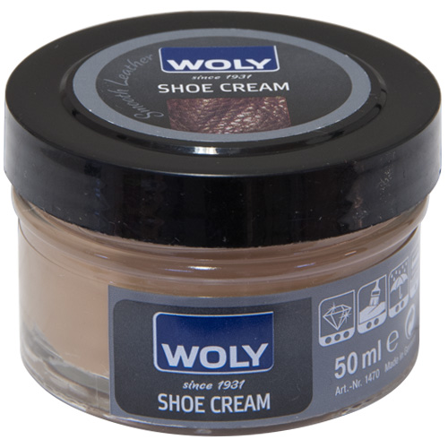 Woly 50ml Shoe Cream Polish For Smooth Leather - Sand (030)