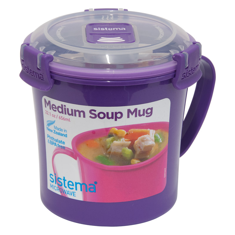 Sistema Medium Soup Mug To Go, 656ml, Assorted Colours