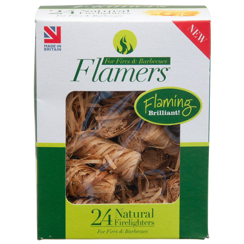 Flamers Natural Fire Lighters, Pack of 24