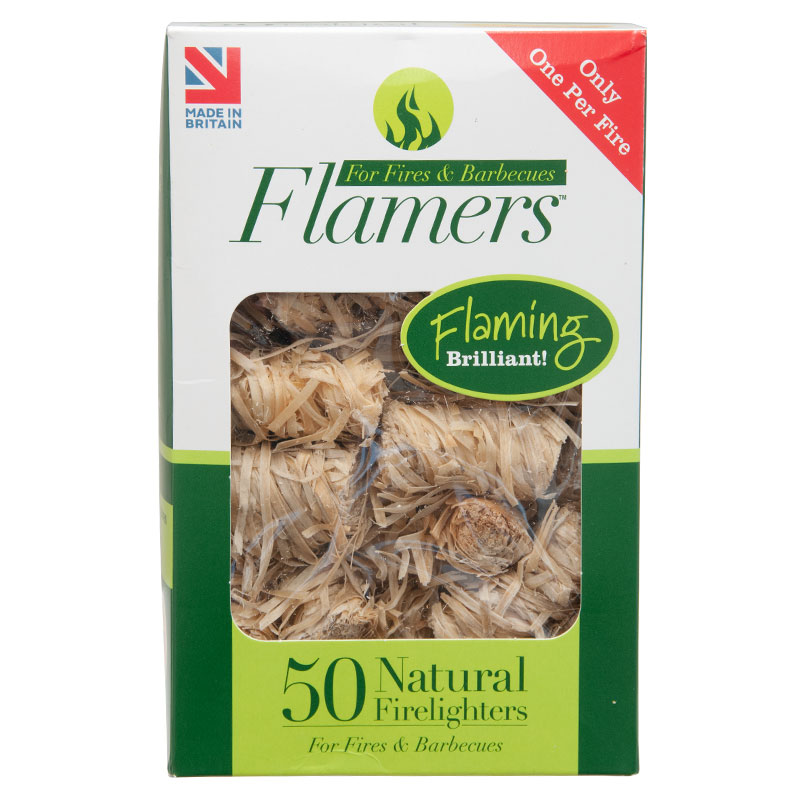 Flamers Natural Fire Lighters, Pack of 50