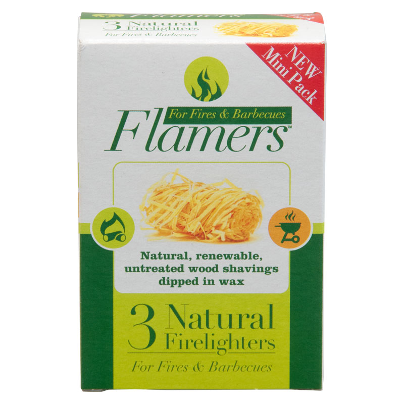 Flamers Natural Fire Lighters, Pack of 3
