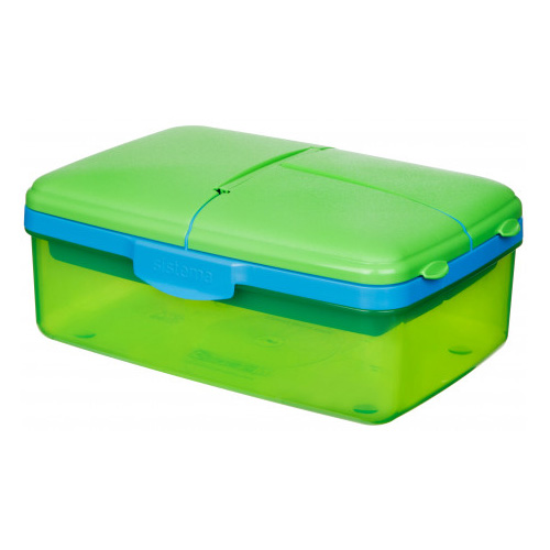 Sistema Slimline Quaddie Lunch Box, 1.5L, Assorted Colours