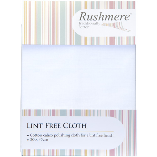 Rushmere Lint Free Cotton Calico Polishing Cloth (30cm x 45cm)