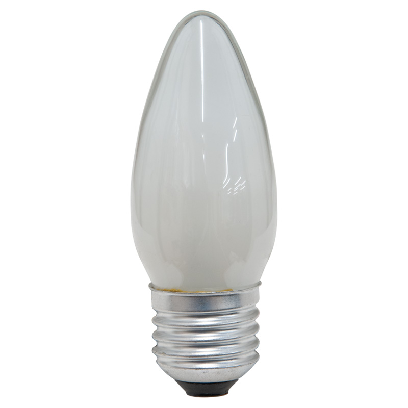 25W 240V ES 35mm Professional Clear Candle Light Bulb