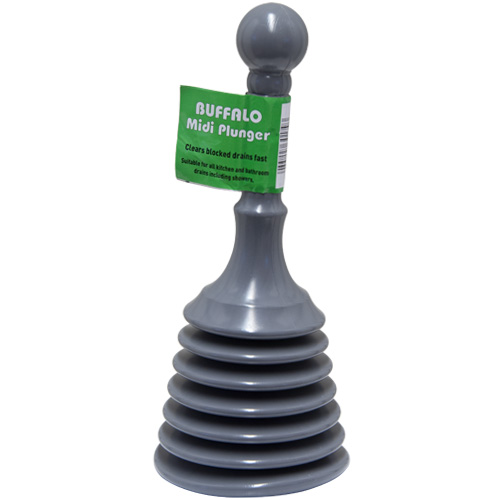 Buffalo Sink Plunger - Plastic Midi Sink and Bath Plunger