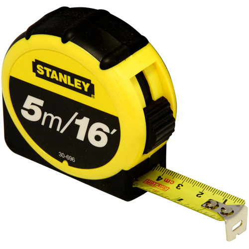 Stanley Steel Tape Measure - 5m Retractable Tape -030696