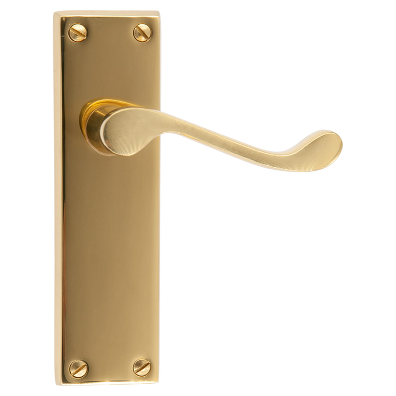 Carlisle Polished Brass Scroll Lever Latch Handles (31209)