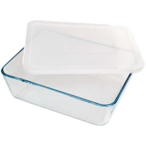 Pyrex Pronto Rectangular Dish With Lid 2.6L
