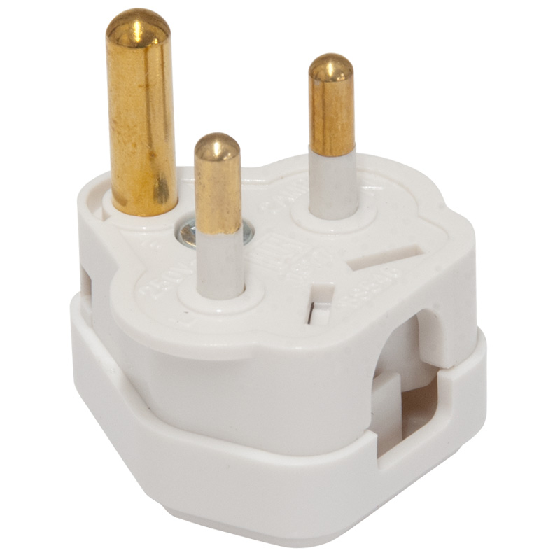 Jegs 3 Pin Mains Plug, Rated 2 amps (PPJ001a)