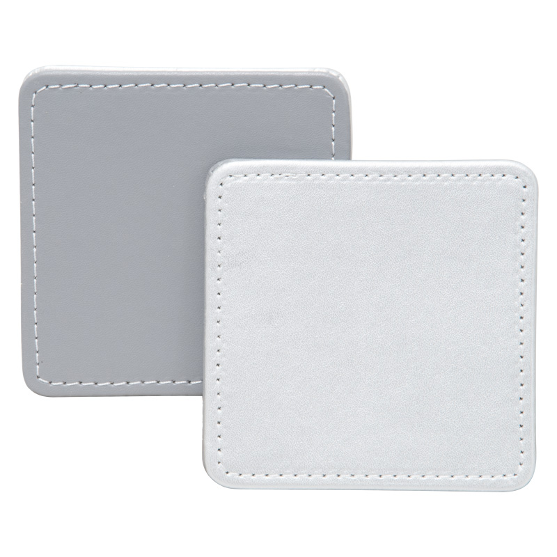 Creative Tops Coasters, Reversible Stitched Metallic/Silver, Set of 4