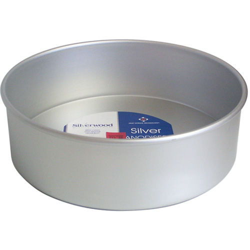 Silverwood 10 inch Loose Base Round Cake Pan Silver Anodised