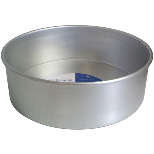 Silverwood 12 inch Loose Base Round Cake Pan Silver Anodised
