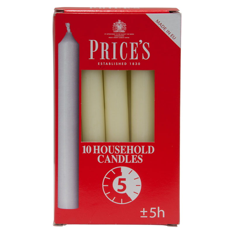 Prices Household Candles - Box of 10