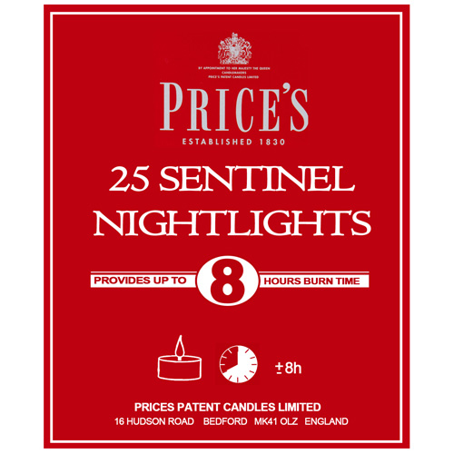 Prices Nightlight Candles - Pack of 25 Sentinel