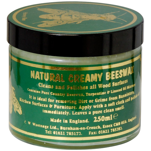 C W Wastnage Natural Creamy Beeswax Clear - 250ml