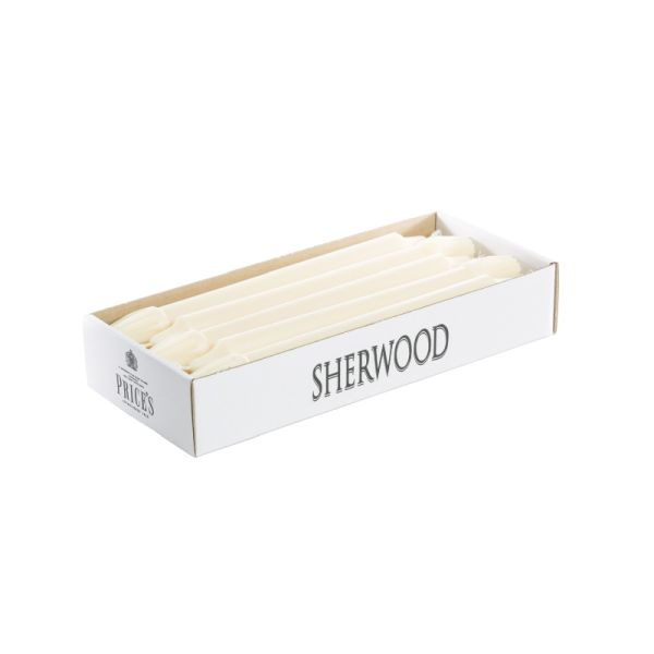 Prices Sherwood 10 inch Dinner Candles, Ivory, Box of 10