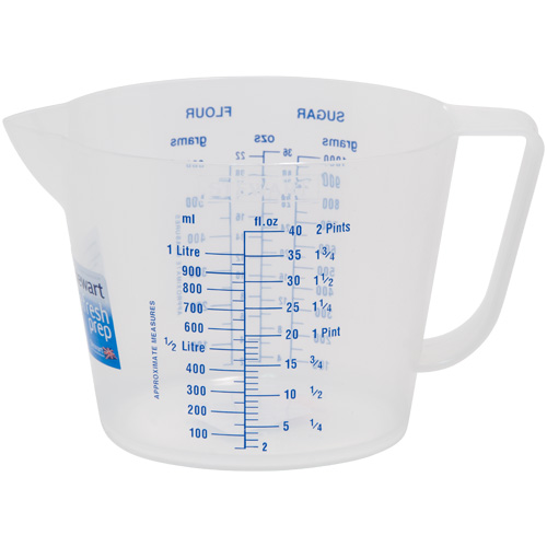 Stewart 1 Litre Clear Plastic Measuring Jug Partridges