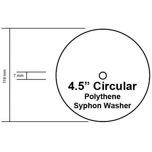 Cistern Syphon Diaphragm Washer, 4 1/2 inch Diameter