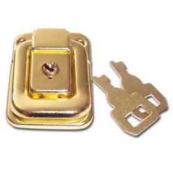 Brass Plated Case Lock (7135) - Click Image to Close