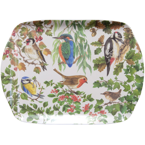 Melamine Medium Tray, Birds of Britain, M50