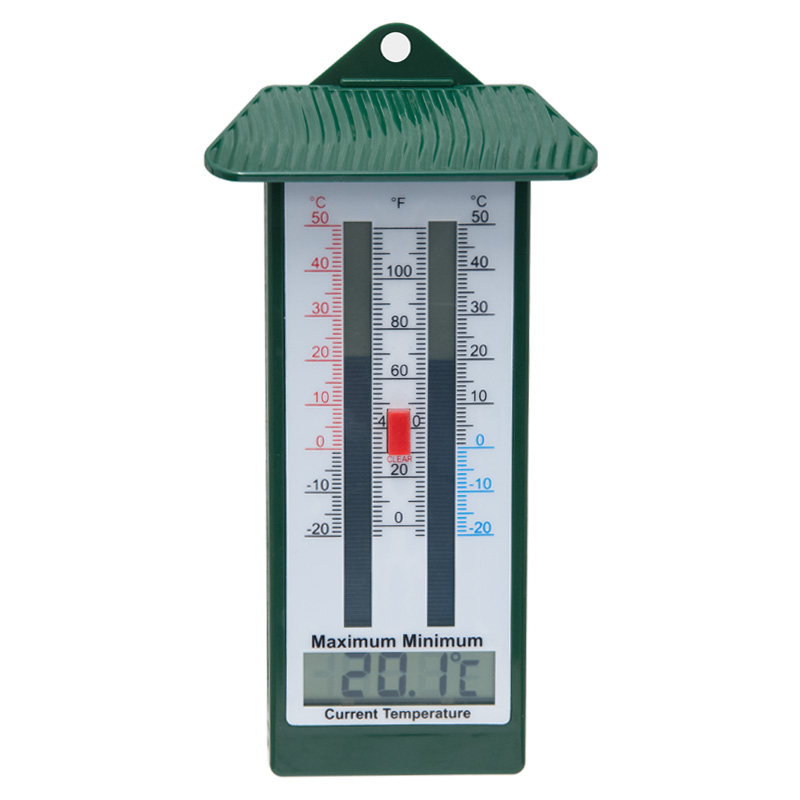 Worth Gardening Lidded Digital Max/Min Wall Thermometer