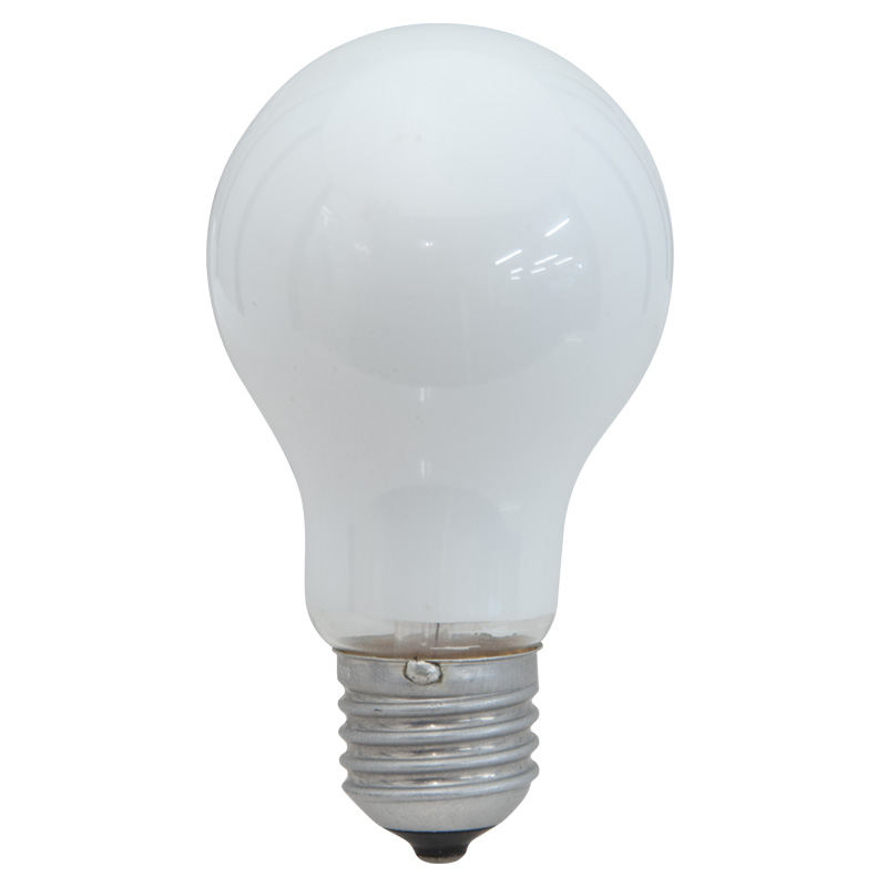25W 240V ES Coloured Light Bulb, White