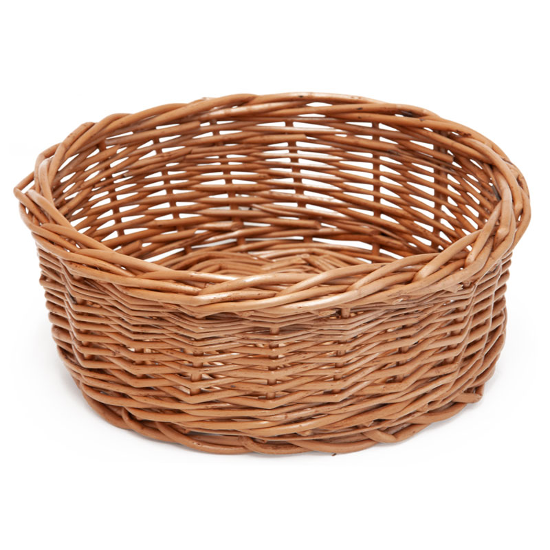 Stow Green Round Buff Bread Basket, Small