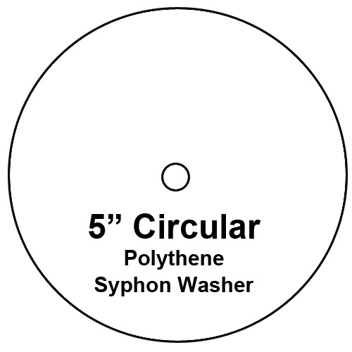 Cistern Syphon Diaphragm Washer, 5 inch Diameter