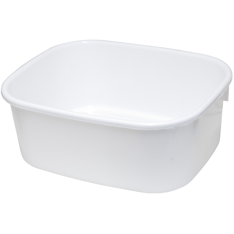 Lucy Large Oblong Washing Up Bowl - White