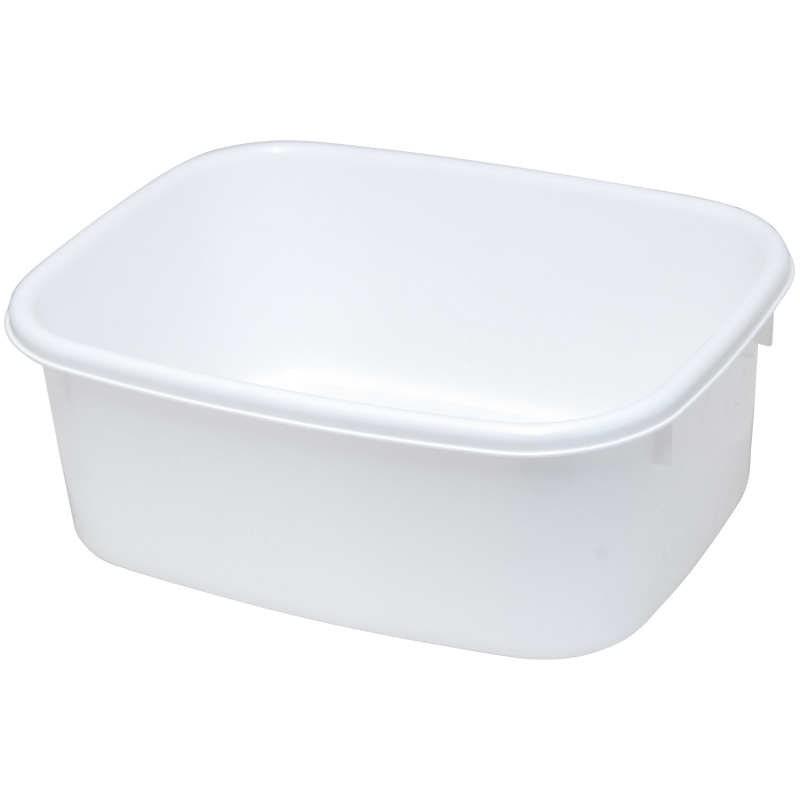 Lucy Small Oblong Washing Up Bowl - White